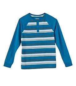 Ruff Hewn Boys' 8-20 Long Sleeve Striped Henley