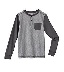Ruff Hewn Boys' 8-20 Long Sleeve Colorblocked Henley