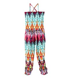 Squeeze® Girls' 7-16 3-In-1 Printed Knit Jumpsuit
