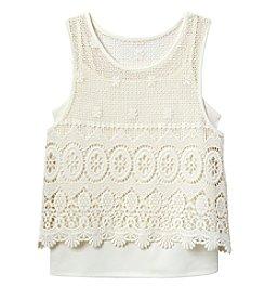 Jessica Simpson Girls' 7-16 Crochet Popover McKenna Tank