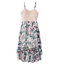 Jessica Simpson Girls' 7-16 Printed Sierra High-Low Dress