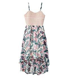 Jessica Simpson Girls' 7-16 Printed Sierra High-Low Dress