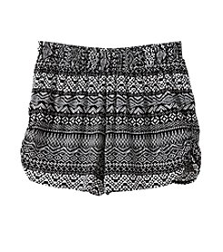 Miss Attitude Girls' 7-16 Geo Printed Challis Shorts