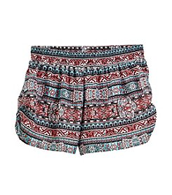 Miss Attitude Girls' 7-16 Bohemian Printed Challis Shorts