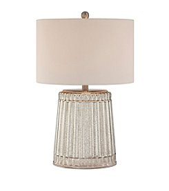 Catalina Lighting Ribbed Silver Mercury Glass Table Lamp