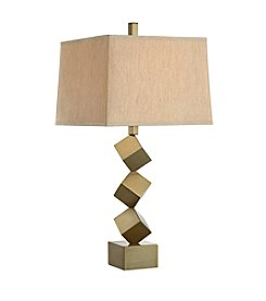 Catalina Lighting Stacked Cube Iron Table Lamp