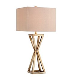 Catalina Lighting Gold Open Cage Metal Table Lamp