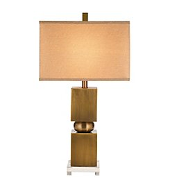 Catalina Lighting Crystal and Metal Table Lamp