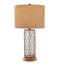 Catalina Lighting Water Glass Column Table Lamp