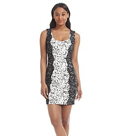 GUESS Lace Scuba Sheath Dress