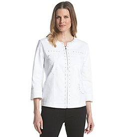 Alfred Dunner® Petites' All Aboard Embroidered Jacket