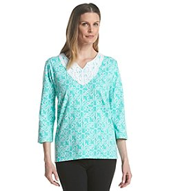Alfred Dunner® Petites' Acapulco Octopus Print Knit Top