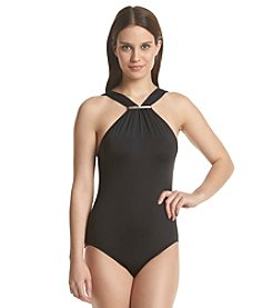 MICHAEL Michael Kors® High Neck Mailot One-Piece