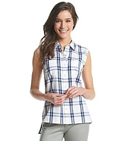 Le Tigre Snap-Front Plaid Top