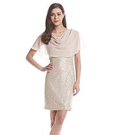 Jessica Howard® Petites' Capelet Sheath Dress