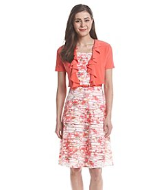 R&M Richards® Petites' Wave Floral Jacket Dress