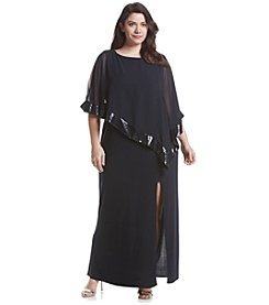 R&M Richards® Plus Size Chiffon Flyaway Gown