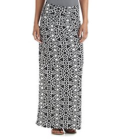 AGB® Geo Print Maxi Skirt