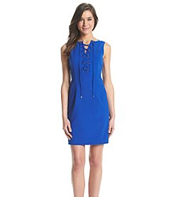 Ivanka Trump Lace-Up Sheath Dress