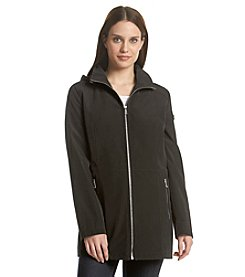 Calvin Klein Hooded Faux Silk Anorak