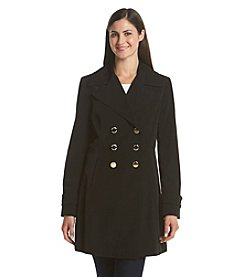 Ivanka Trump® Faux Silk Fit And Flare Coat