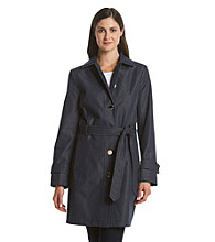 Ivanka Trump® Belted Chambray Trench Coat