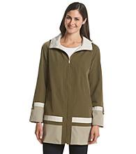 Jones New York® A-Line Colorblock Swing Coat