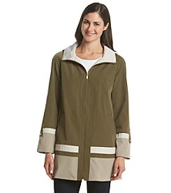 Jones New York® A-Line Colorblock Swing Coat