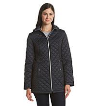 Esprit® Hooded Quilt Coat