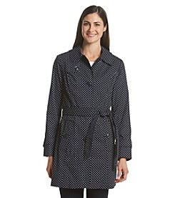 London Fog® Polka Dot Trench Coat