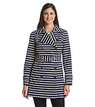 Tommy Hilfiger® Belted Stripe Trench Coat