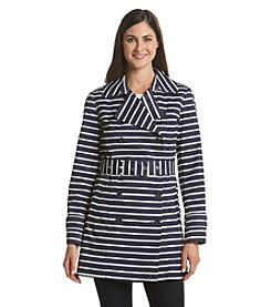 Tommy Hilfiger® Belted Stripe Trench Coat