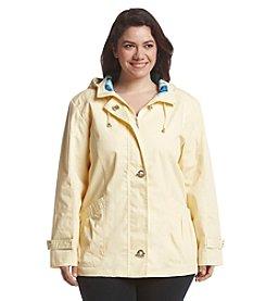 Mackintosh Plus Size Shirred Patch Blouse Jacket