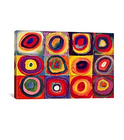 iCanvas Squares with Concentric Circles by Wassily Kandinsky Canvas Print