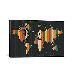 iCanvas 2015 Time Zones by Jazzberry Blue Canvas Print