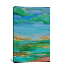 iCanvas Green Clouds by Sonal Nathwani Canvas Print