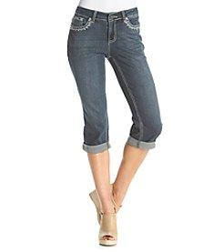Earl Jean® Petites' V Patch Pocket Capris