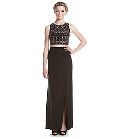 Morgan & Co.® Embellished Two Piece Dress