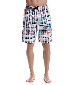Speedo® Men's Marble Stripe Board Shorts
