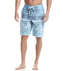 Speedo® Men's Palm Stripe Board Shorts