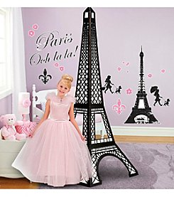 Paris Damask Wall Decal & Eiffel Tower Standup Kit