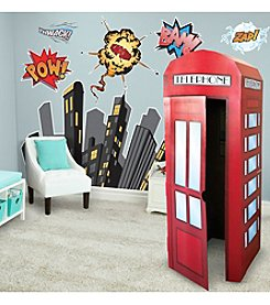Superhero Comics Wall Decal and Standup Kit