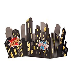 Superhero Comics City Scape Standup