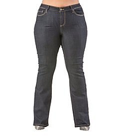 Poetic Justice® Plus Size Maya Basic Boot Jeans