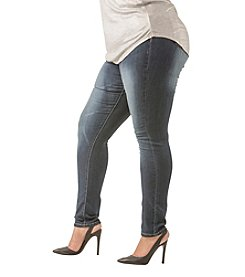 Poetic Justice® Plus Size Maya Rayon Rich Destroy Skinny Jeans