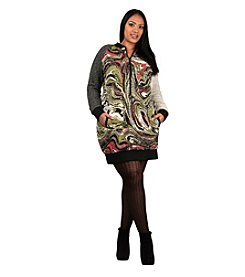 Poetic Justice® Plus Size Hannah Marble Print Dress