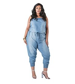 Poetic Justice® Kimi Chambray Tube Jumper