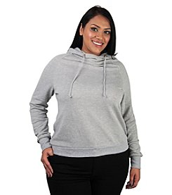 Poetic Justice® Plus Size Lia French Terry Lace Back Hoodie