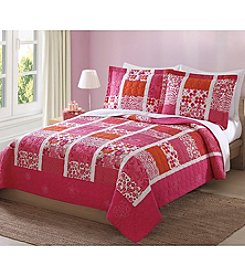 My World® Mix of Flowers Quilt Set