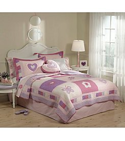 My World® Spring Hearts Quilt Set